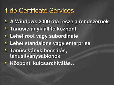 PPT - { PKI } Active Directory Certificate Services