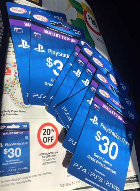 EXPIRED: 20% off $30 Playstation Network cards at Coles