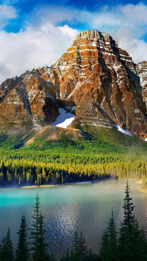 Wallpaper Winter mountains, Lake, Forest, Pine trees, HD