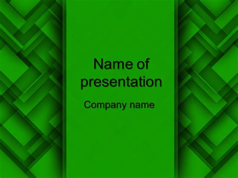 Download free Green Abstract powerpoint template for your