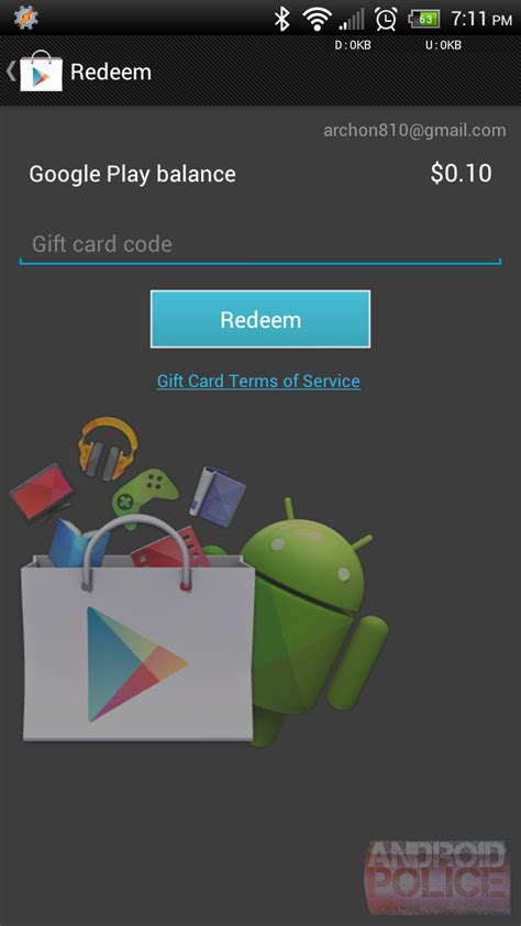 How To: Redeem Google Play Gift Cards Using The Device
