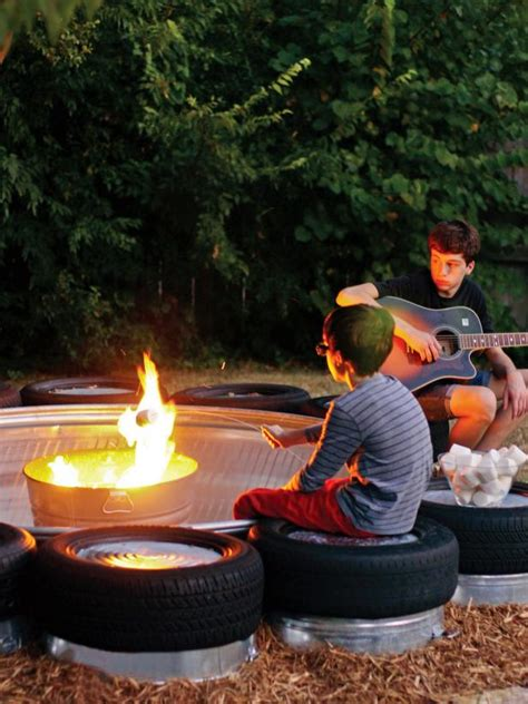 Build a Stock Tank Fire Pit   Fire Pit Ideas and Outdoor