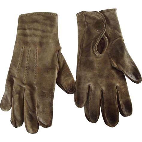 Early Children's Leather Gloves from fhtv on Ruby Lane