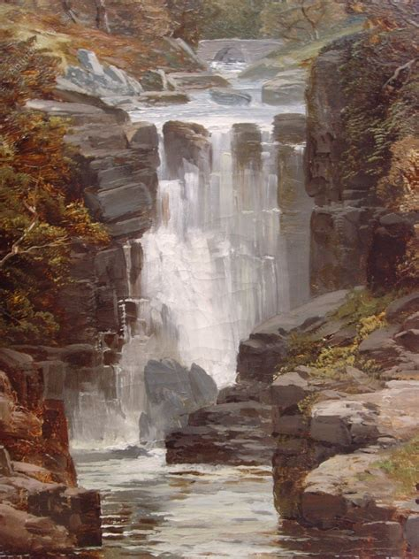 Antiques Atlas - 19th Landscape Waterfall Oil Painting