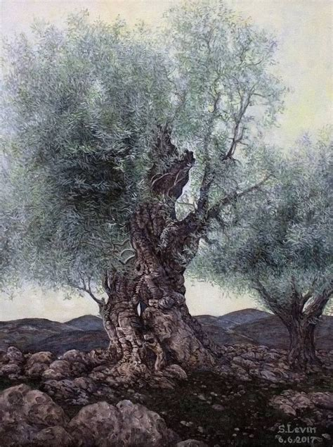 Buy olive trees, an Oil Painting on Canvas, by Sergey