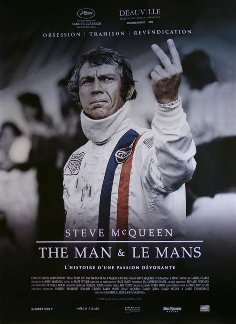 Original Steve McQueen The Man and Le Mans Movie Poster